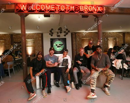 Pictured left to right, Malcolm Livingston ll of Ghetto Gastro, Beyond Meat Founder and CEO, Ethan Brown, Lester Walker of Ghetto Gastro, Beyond Meat Executive Chairman, Seth Goldman, and Pierre Serrao and Jon Gray of Ghetto Gastro, at the launch and celebration of Beyond Meat's latest product innovation, Beyond Beef, at Ghetto Gastro's Labyrinth 1.1 in the Bronx, N.Y