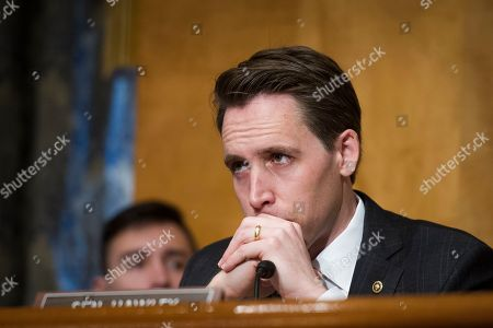 Senate Homeland Security and Governmental Affairs Committee member Josh Hawley, R-Mo., listens to witnesses during the Committee's hearing on 'Unprecedented Migration at the U.S. Southern Border: By the Numbers', on Capitol Hill in Washington
