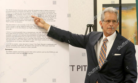 Stock Photo of Frank M. Pitre, attorney for the family of Samya Stumo, who died in the Ethiopia Airlines crash, announces a lawsuit against Boeing during a news conference Thursday, April, 4, 2019, in Chicago. The complaint also names Ethiopian Airlines and parts maker Rosemount Aerospace as defendants, is alleging negligence and civil conspiracy among other charges. Stumo, was a 24-year old American and great niece of consumer advocate and former presidential candidate Ralph Nader