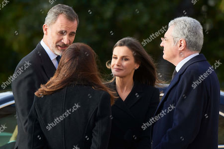 Editorial image of Funeral of Jose Pedro Perez-Llorca, Madrid, Spain - 04 Apr 2019