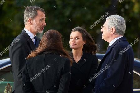 Stock Photo of King Felipe VI, Queen Letizia, Carmen Perez-Llorca, Pedro Perez-Llorca