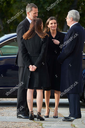 Stock Photo of King Felipe VI, Queen Letizia, Carmen Perez-Llorca, Pedro Perez-Llorca