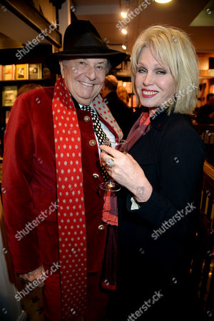 Barry Humphries and Joanna Lumley