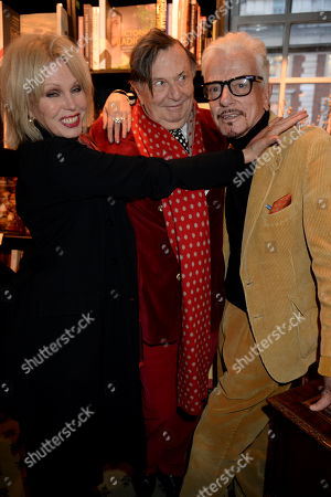 Joanna Lumley, Barry Humphries and Nicky Haslam