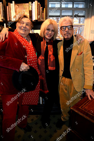 Barry Humphries, Joanna Lumley and Nicky Haslam