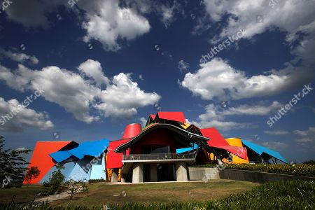 Exterior view of the Museum of Natural History of Panama (Biomuseo), designed by Canadian architect Frank Gehry, in Panama City, Panama, 04 April 2019. Its intention is to change the way we see, understand and conserve nature and its biodiversity.