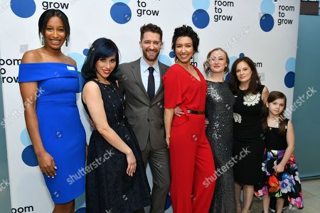 Akilah King, Veridiana Montas, Matthew Morrison, Renee Morrison, Allyson Crawford, Julie Burns and Willa Burns