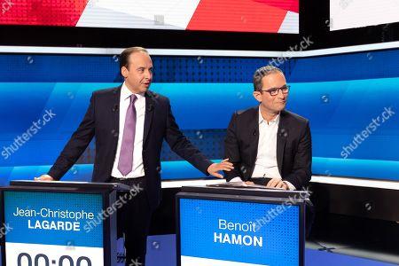 Jean-Christophe Lagarde and Benoit Hamon.