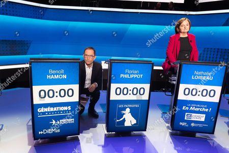 Benoit Hamon and Nathalie Loiseau.