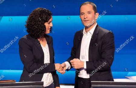 Manon Aubry (LFI) and Benoit Hamon.