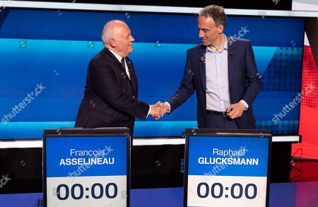 Francois Asselineau and Raphael Glucksmann.