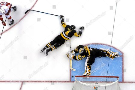 Editorial image of Red Wings Penguins Hockey, Pittsburgh, USA - 04 Apr 2019