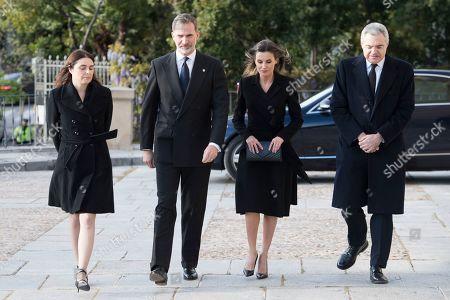 King Felipe VI, Queen Letizia, Carmen Perez-Llorca and Pedro Perez-Llorca