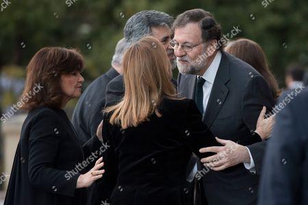 Stock Image of Mariano Rajoy, Ana Pastor Garcia and Carmen Calvo Poyato