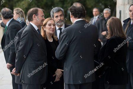 Mariano Rajoy, Pio Garcia-Escudero and Ana Pastor Garcia