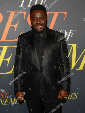 "Babou Ceesay attends the premiere of ""The Best of Enemies"" at AMC Loews Lincoln Square, in New York"