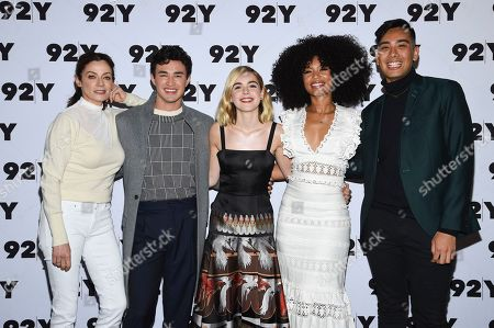 "Editorial image of Netflix's ""Chilling Adventures of Sabrina"" Cast at 92Y, New York, USA - 04 Apr 2019"
