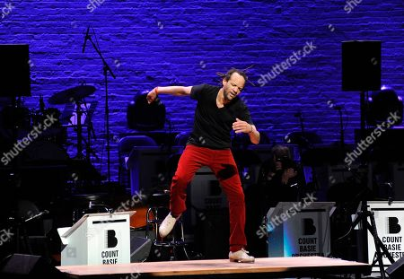 """Savion Glover performs at the red carpet at the Jazz Foundation of America's 17th annual """"A Great Night In Harlem"""" gala concert at The Apollo Theater, in New York"""