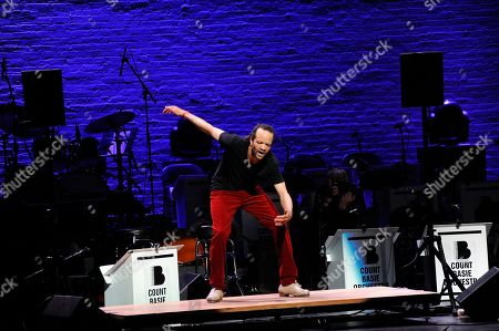 """Savion Glover performs at the Jazz Foundation of America's 17th annual """"A Great Night In Harlem"""" gala concert at The Apollo Theater, in New York"""