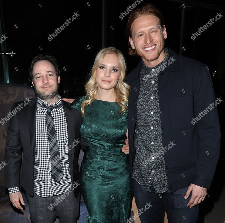 Danny Strong, Caitlin Mehner and Nicholas Logan