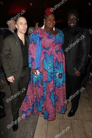 Sam Rockwell, Anne Nakia-Green and Babou Ceesay
