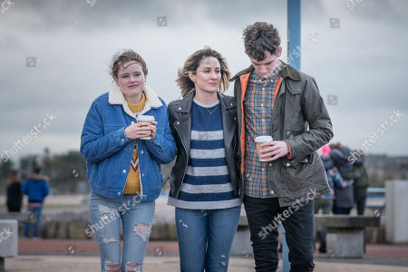 Imogen King as Abbie Armstrong, Morven Christie as Lisa Armstrong and Art Parkinson as Rob Armstrong
