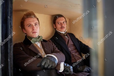 Stock Photo of Jordan Waller as Lord Alfred Paget and Nicholas Audsley as Duke of Monmouth.