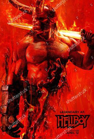 Hellboy (2019) Poster Art. David Harbour as Hellboy