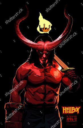Stock Picture of Hellboy (2019) Poster Art. David Harbour as Hellboy