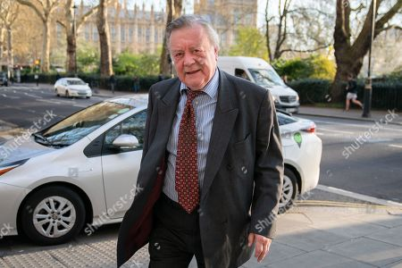 Kenneth Clarke MP arriving to appear on a radio interview. MPs voted last night by a majority of one to extend article 50. The bill will be passed to the House of Lords today.