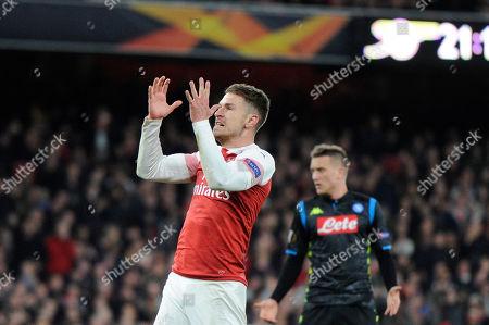 Editorial photo of Arsenal v Napoli, UEFA Europa League Quarter-final, Football, The Emirates, London, UK - 11 Apr 2019
