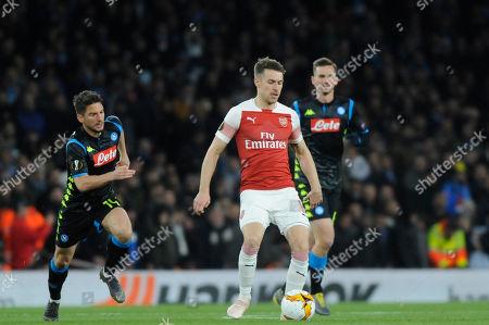 Editorial image of Arsenal v Napoli, UEFA Europa League Quarter-final, Football, The Emirates, London, UK - 11 Apr 2019