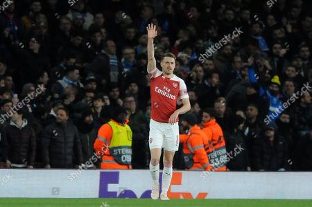 Editorial picture of Arsenal v Napoli, UEFA Europa League Quarter-final, Football, The Emirates, London, UK - 11 Apr 2019