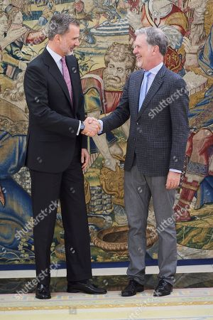 Stock Photo of King Felipe VI of Spain, Reed Hastings
