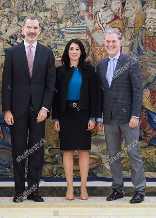 King Felipe VI of Spain, Reed Hastings, Maria Concepcion Ferreras Fernandez