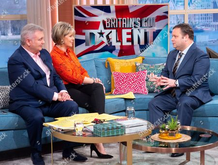 Eamonn Holmes and Ruth Langsford with Paul Potts
