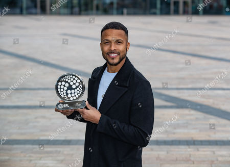 Joe Thompson receives the Tom Finney Award at Media City in Manchester