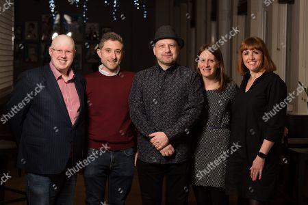 Matt Lucas, Bennett Arron and Cally Beaton with Hannah and Adam Cohen.