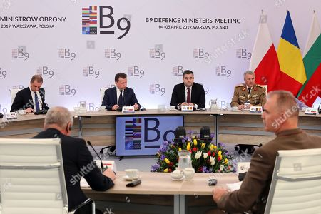 Editorial photo of Bucharest Nine defence minister meet in Poland, Nowa Wies - 05 Apr 2019