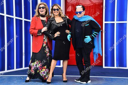 Iva Zanicchi, Barbara D'Urso and Cristiano Malgioglio