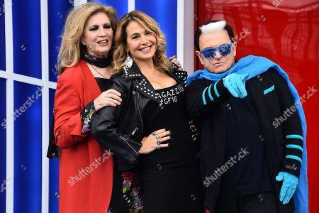 Iva Zanicchi Barbara D'Urso and Cristiano Malgioglio