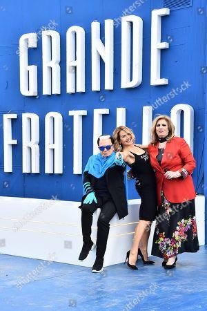 Cristiano Malgioglio, Barbara D'Urso and Iva Zanicchi