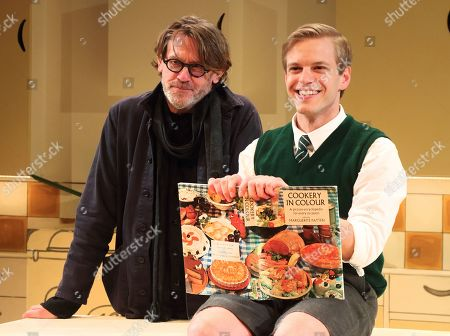 Stock Picture of Nigel Slater and Giles Cooper who plays Nigel Slater