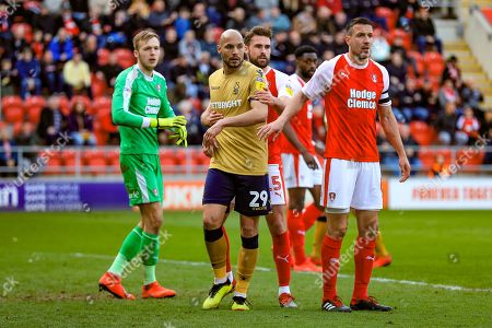 6th April 2019, New York Stadium, Rotherham, England; Sky Bet Championship Rotherham United vs Nottingham Forest ; Yohan Benalouane (29) of Nottingham Forest waits eagerly for the corner Credit: John Hobson/News Images English Football League images are subject to DataCo Licence