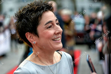 Stock Picture of German journalist and television presenter Dunja Hayali arrives on the red carpet of the 55th Grimme Award ceremony in Marl, Germany, 05 April 2019. The Grimme-Preis is a German television award.
