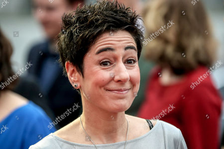 Stock Photo of German journalist and television presenter Dunja Hayali arrives on the red carpet of the 55th Grimme Award ceremony in Marl, Germany, 05 April 2019. The Grimme-Preis is a German television award.