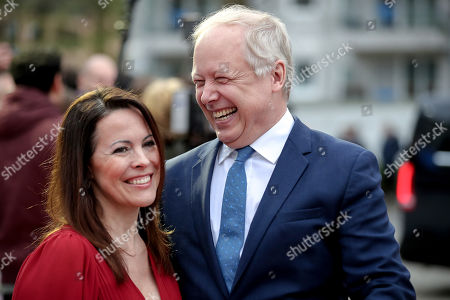 Tom Buhrow, journalist and director-general of the West German Broadcasting Corporation (WDR), and his wife Sabine Stamer (L) smile on the red carpet of the 55th Grimme Award ceremony in Marl, Germany, 05 April 2019. The Grimme-Preis is a German television award.