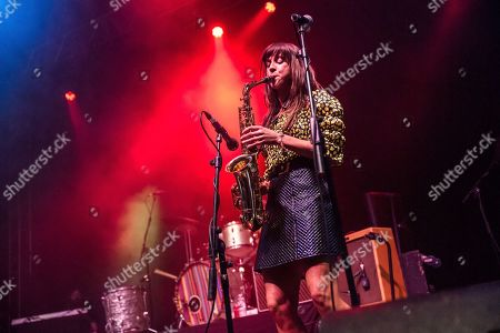 Editorial photo of The Zutons in concert at the o2 Academy Leeds, UK - 04 Apr 2019