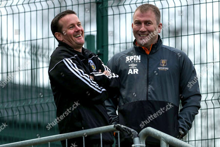 UCD vs Waterford. UCD manager Colin O'Neill and Waterford manager Alan Reynolds