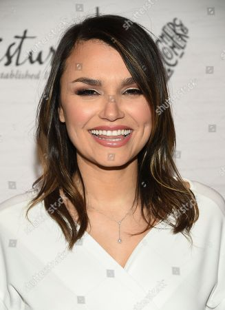 Samantha Barks attends Variety's Power of Women: New York presented by Lifetime at Cipriani 42nd Street, in New York